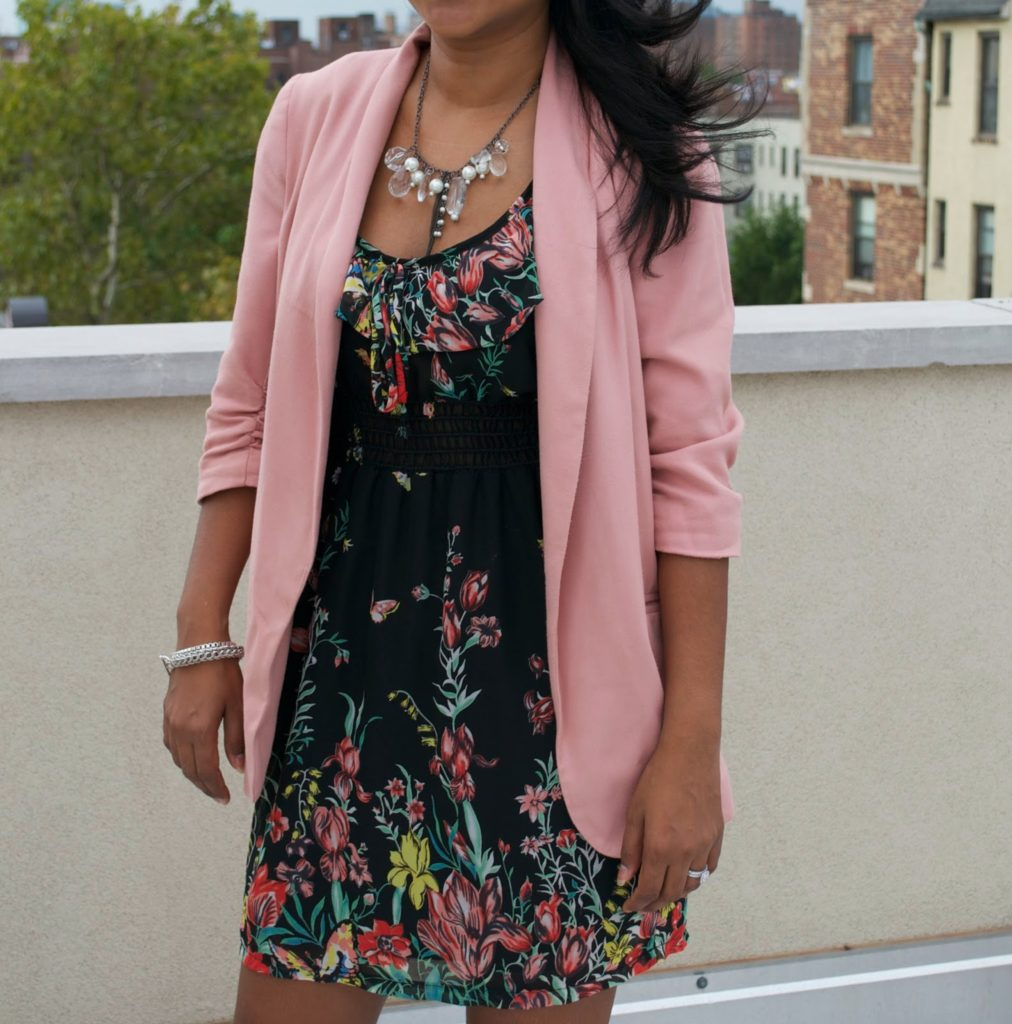 fall trends pink blazer justfab shoes