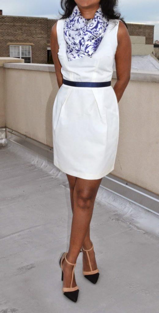 asos dress asos blue and white dress