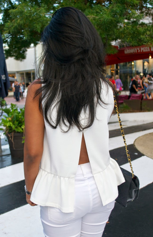 open back white top french connection open back top