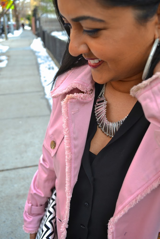 pink coat pink trench trench coat