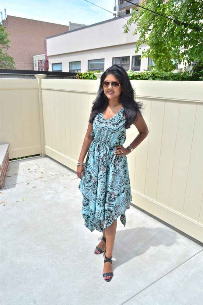 H&M dress scarf print dress