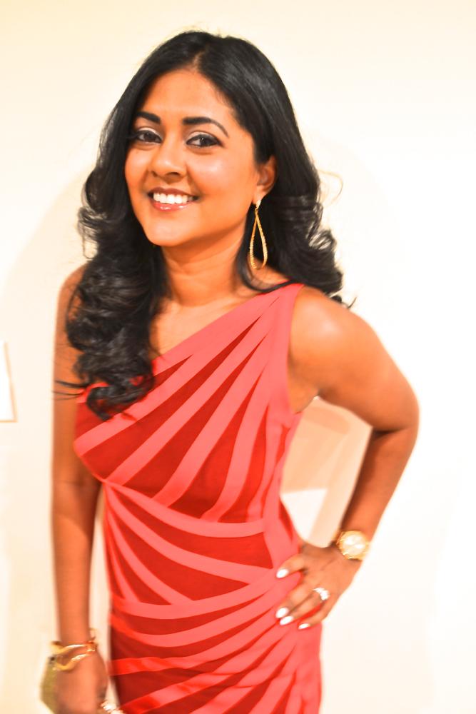 Herve Leger Red dress Astoria in Heels