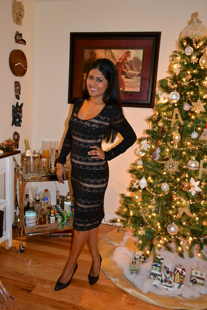 BCBG holiday lace dress astoria in heels