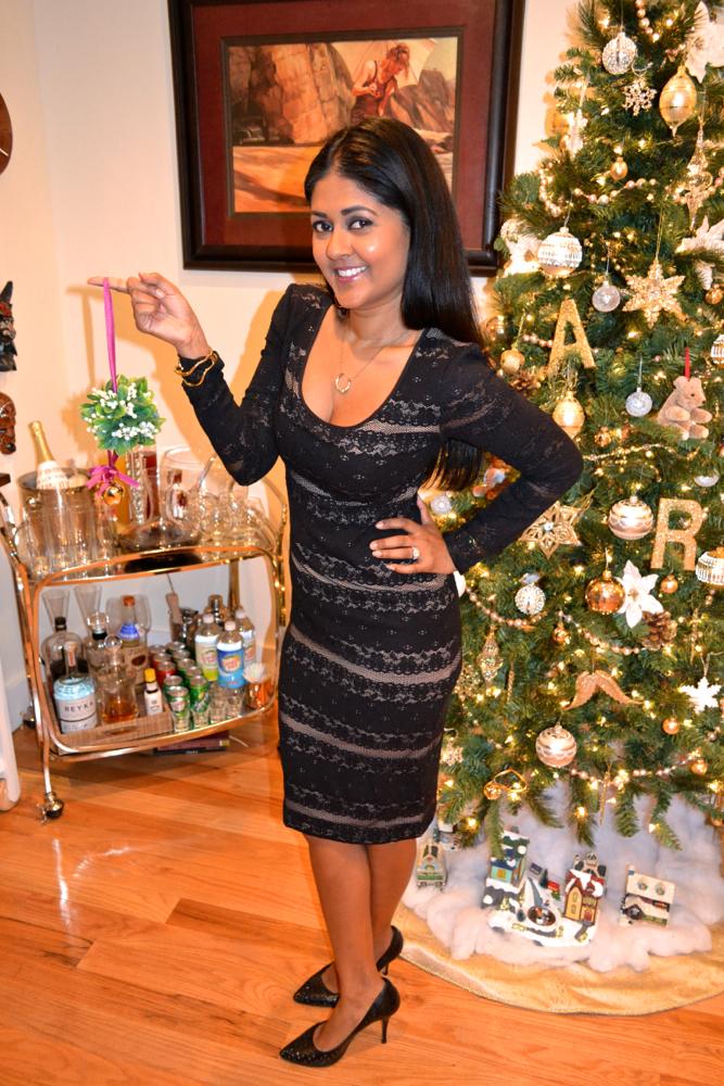 Christmas party lace dress BCBG