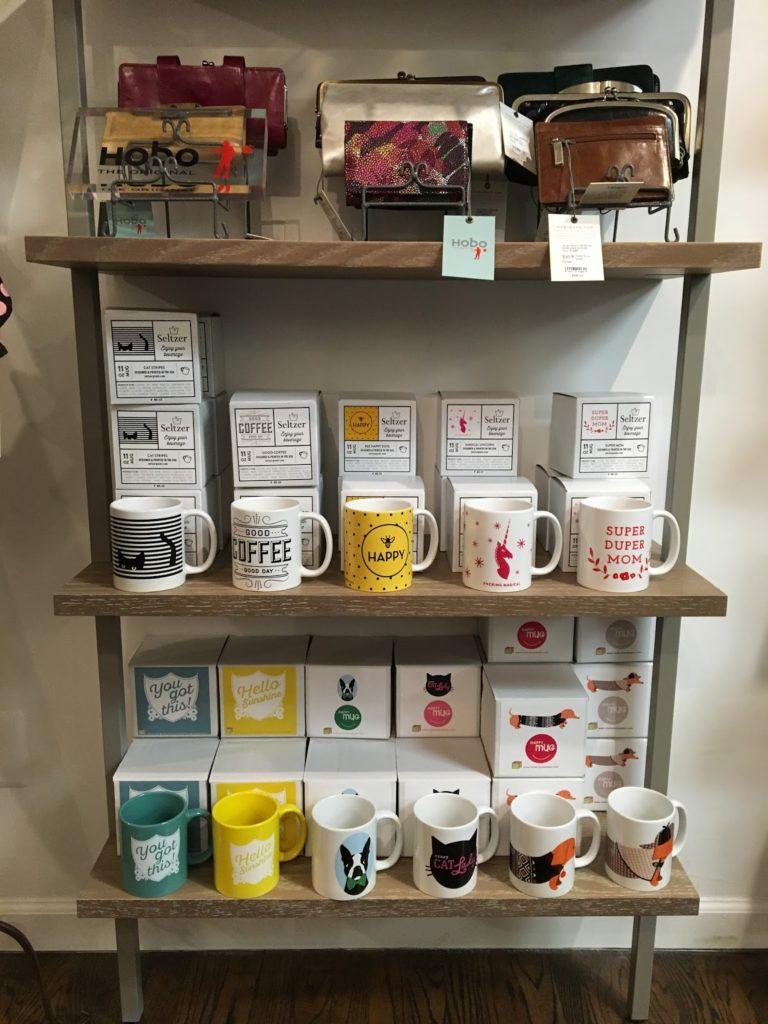 Mugs in Astoria gift shop