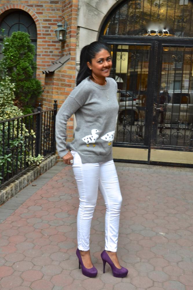 Maison Jules duck sweater Astoria in Heels