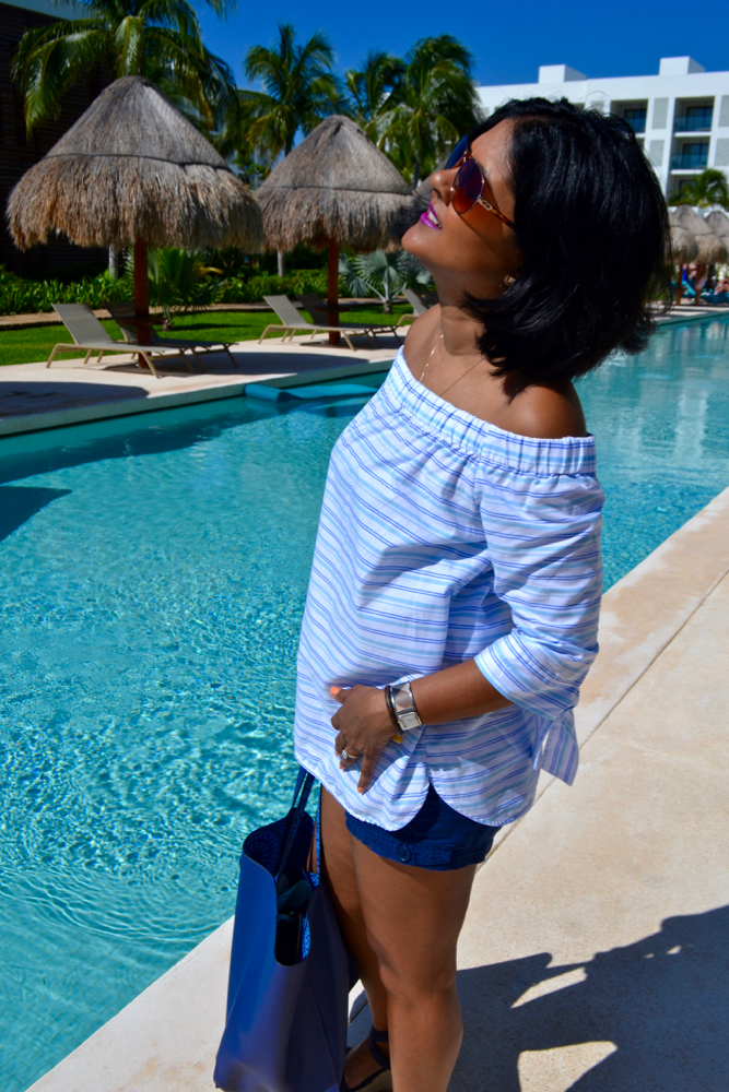 Off the shoulder tops for vacation in cancun