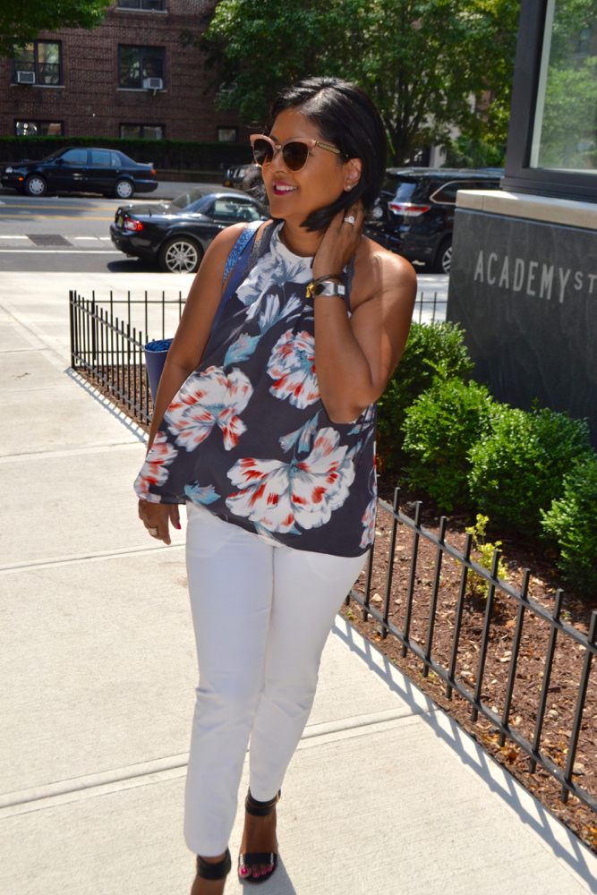 Floral halter top for the summer in New York