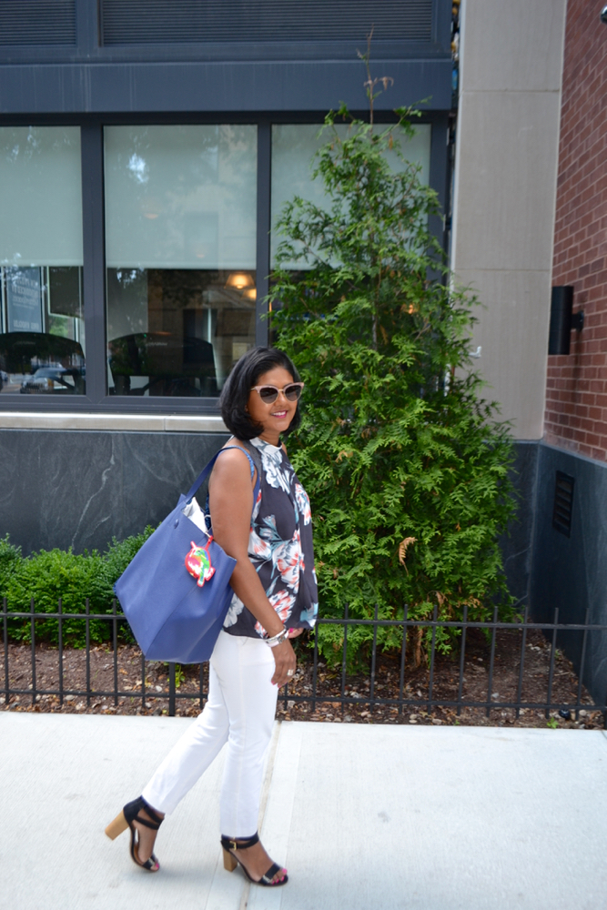 Floral tops and totes for summer in New York