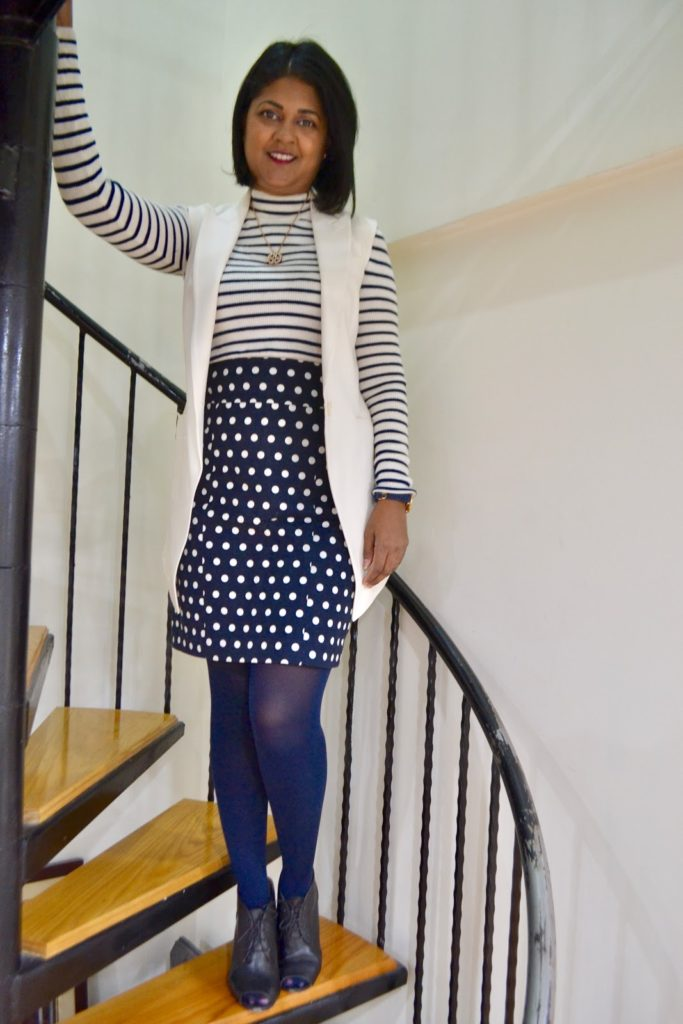 How to pattern mix, polka dots and stripes