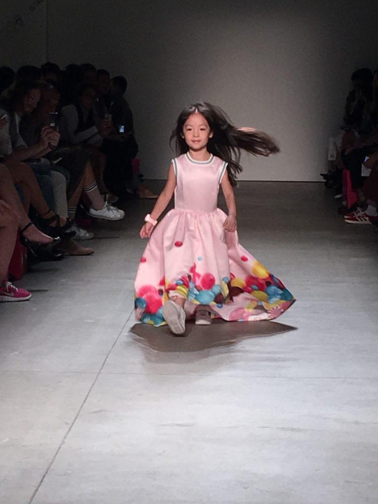 kid dress on New York fashion week runway