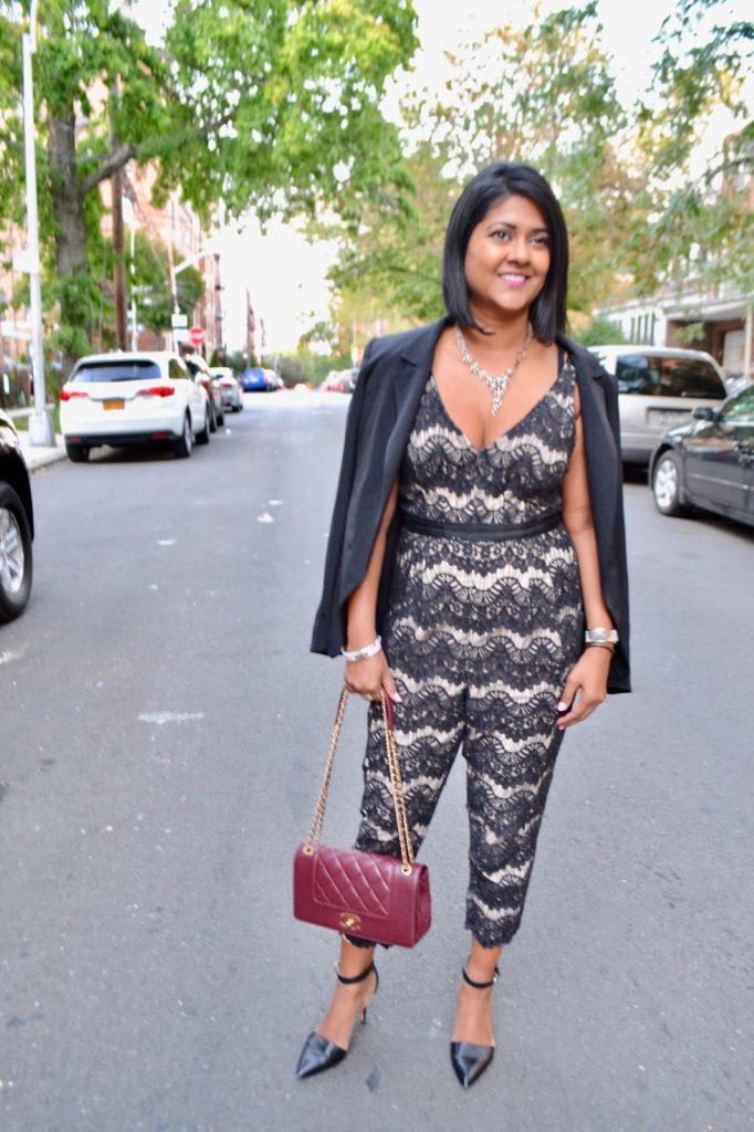Tracy Reese jumpsuit black lace jumpsuit