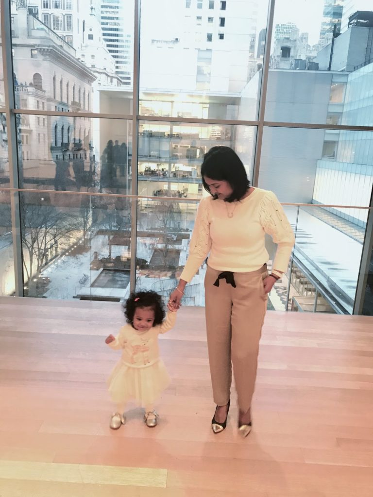 Family time at Museum of Modern Art in New York City