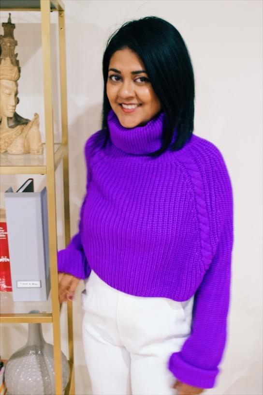 violet hue sweater