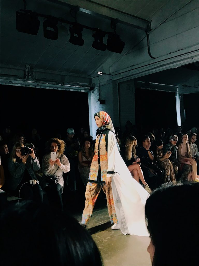 Indonesian Diversity runway show NYFW SS19, hijab on the runway