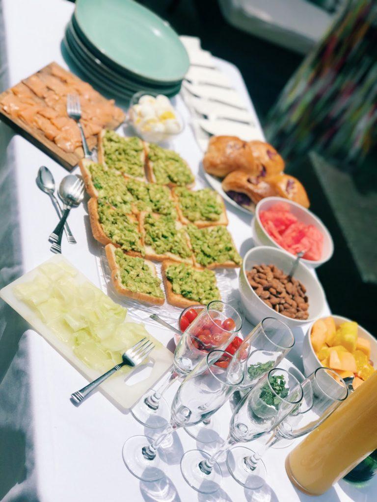 Networking brunch event, backyard brunch series, avocado toast