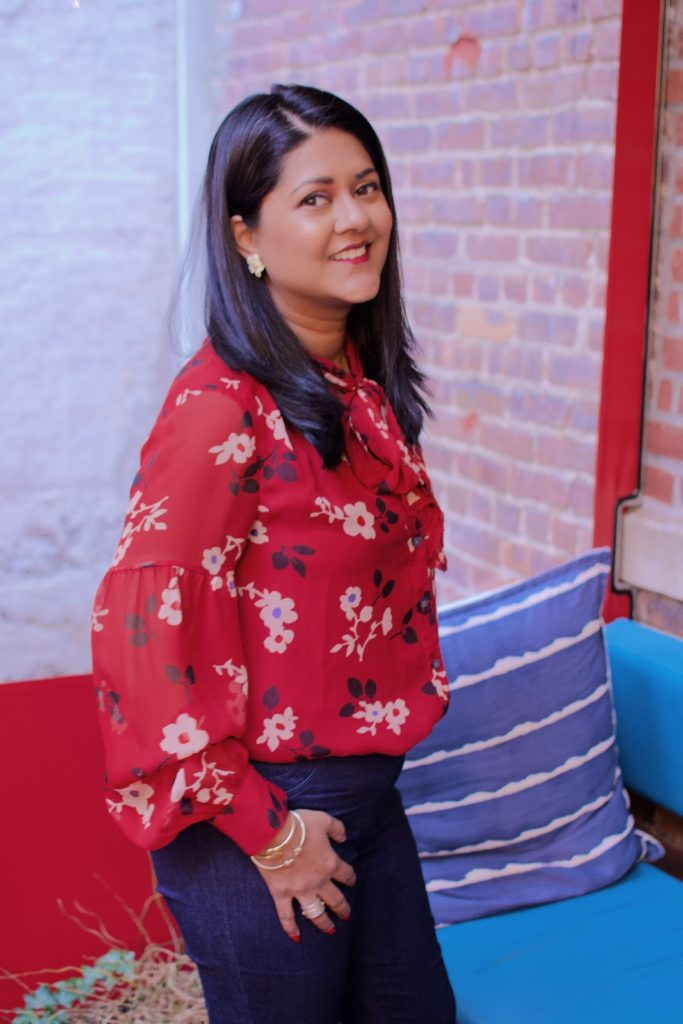 red blouses for the holiday season, kate spade red floral blouse, what to wear for the holidays